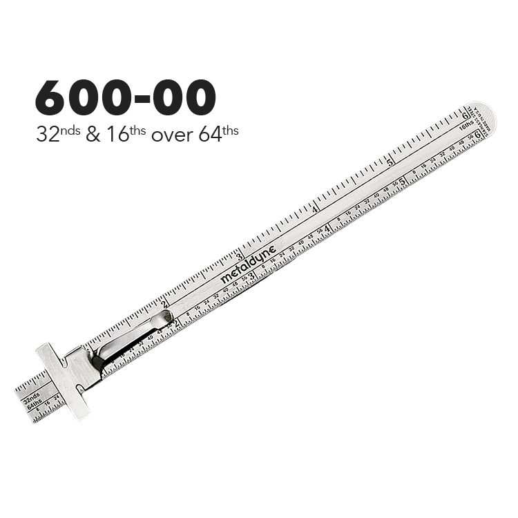 """600-00 - 6"""" Pocket Ruler from Executive Line"""