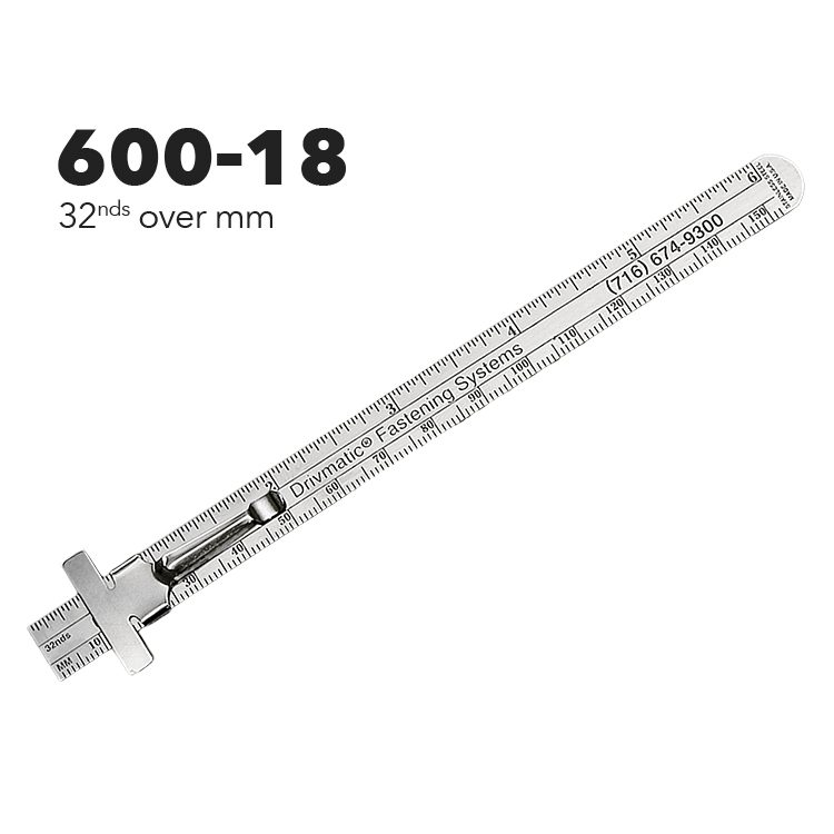 "600-18 - 6"" Pocket Ruler from Executive Line"