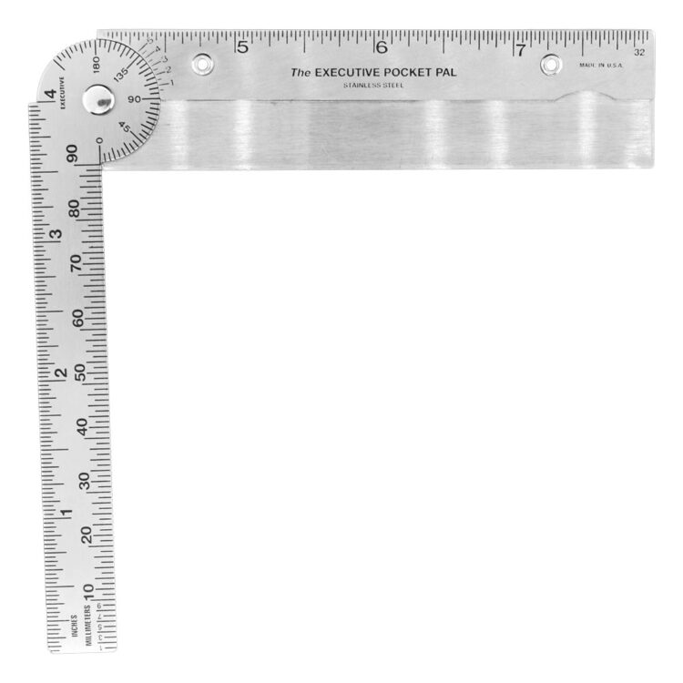Executive Line - 1002 Stock Pocket Protractor - Half Open