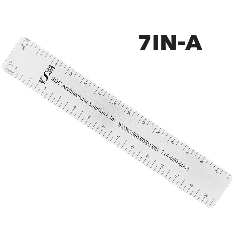 7IN-A - Architectural Ruler by Executive Line